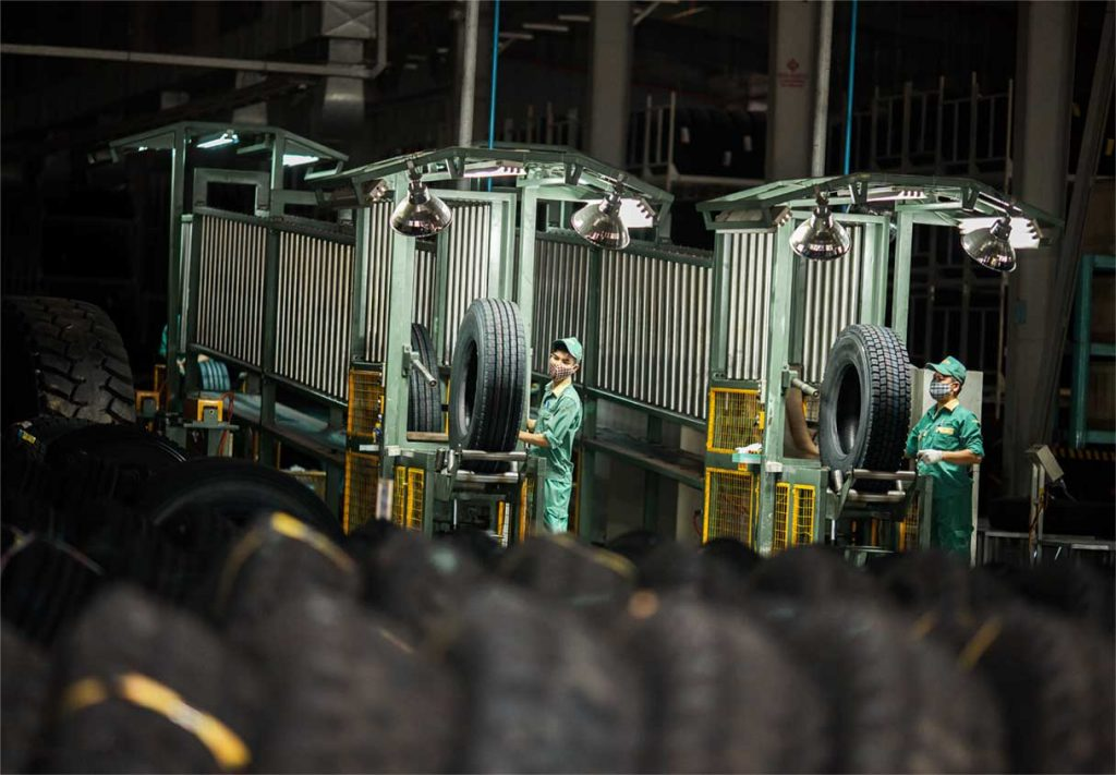 Vietnam DRC tire is a biggest radial tire factory at King Tire Vietnam